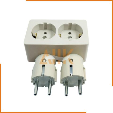 Plug & Double Receptacle